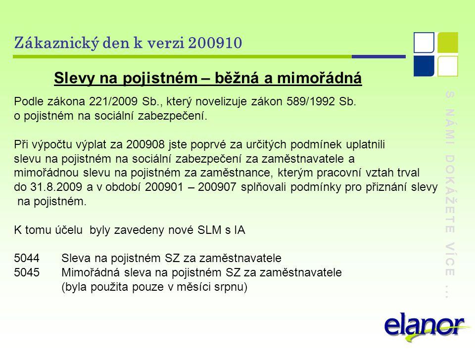 S NÁMI DOKÁŽETE VÍCE... Zákaznický den k verzi 200910 Výpočet mzdy v režimu konta pracovní doby
