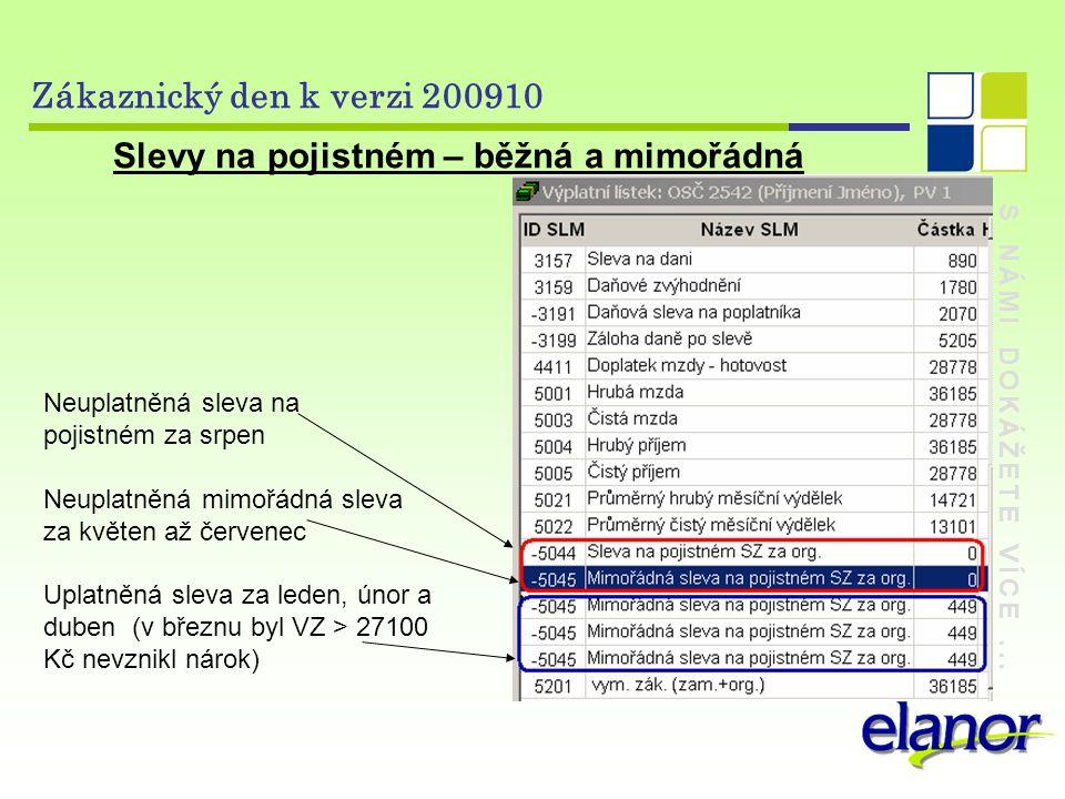 S NÁMI DOKÁŽETE VÍCE... Zákaznický den k verzi 200910 Sestavy