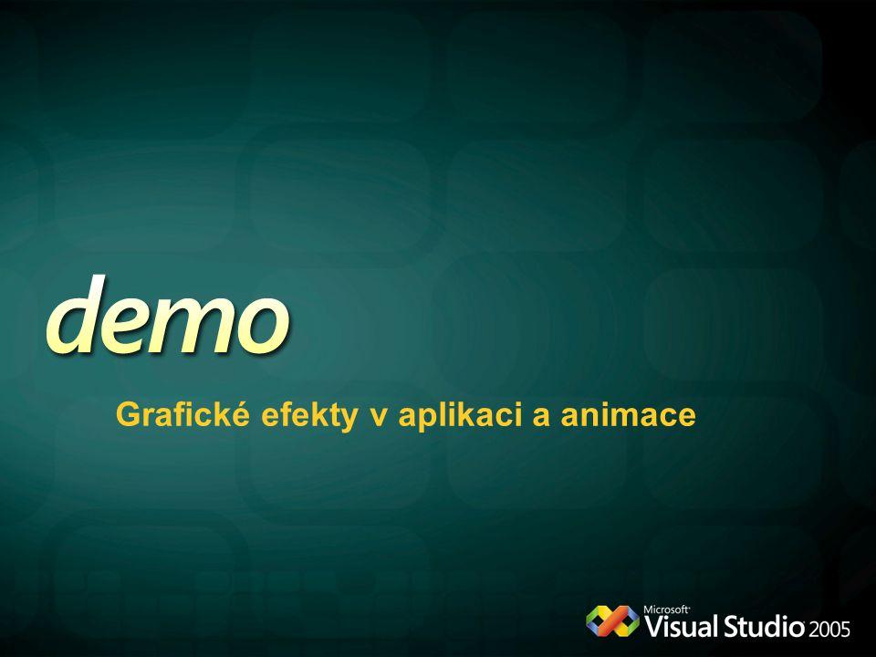 Grafické efekty v aplikaci a animace