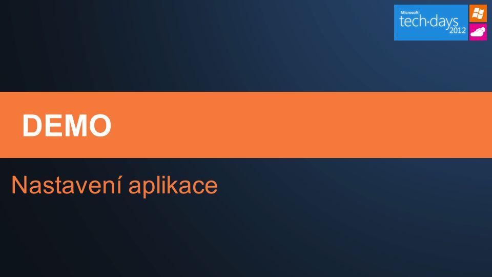 DEMO Nastavení aplikace