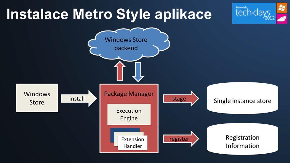 Instalace Metro Style aplikace