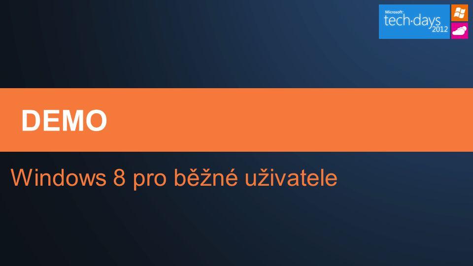 DEMO Windows 8 pro běžné uživatele