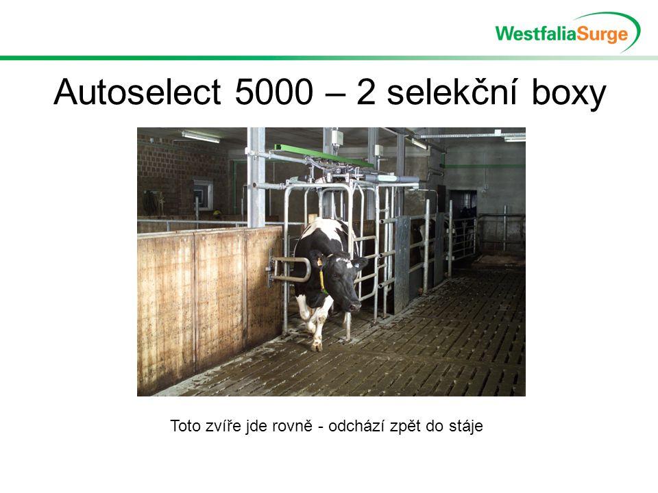 Autoselect 5000 – 2 selekční boxy Toto zvíře jde rovně - odchází zpět do stáje