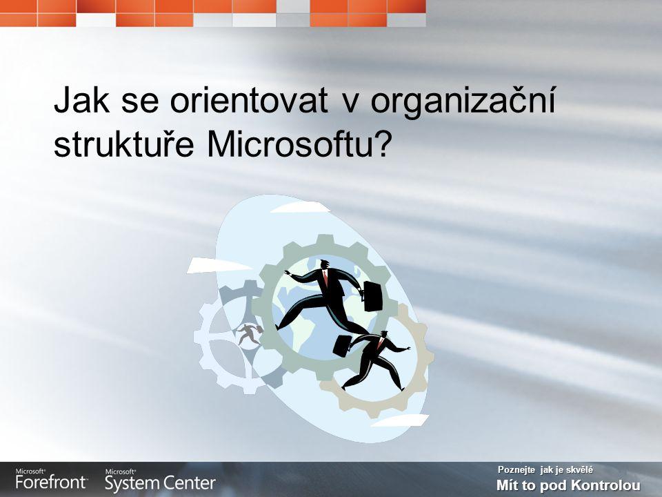 Poznejte jak je skvělé Mít to pod Kontrolou Jak se orientovat v organizační struktuře Microsoftu