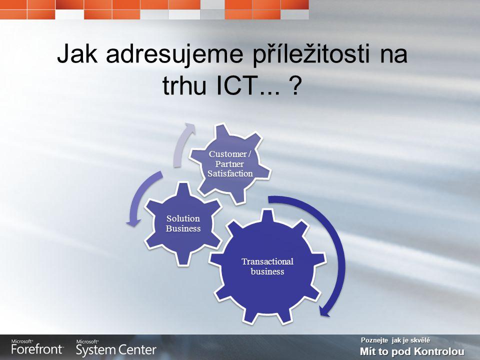 Poznejte jak je skvělé Mít to pod Kontrolou Jak adresujeme příležitosti na trhu ICT...