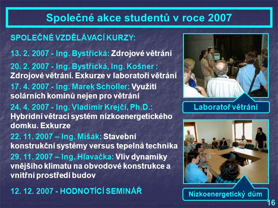 Laboratoř větrání 13.2. 2007 - Ing. Bystřická: Zdrojové větrání 20.