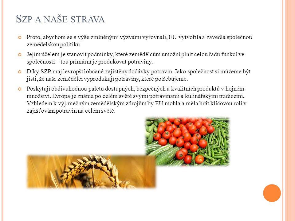 S ZP A NAŠE KRAJINA Zemědělství neslouží pouze k produkci potravin.