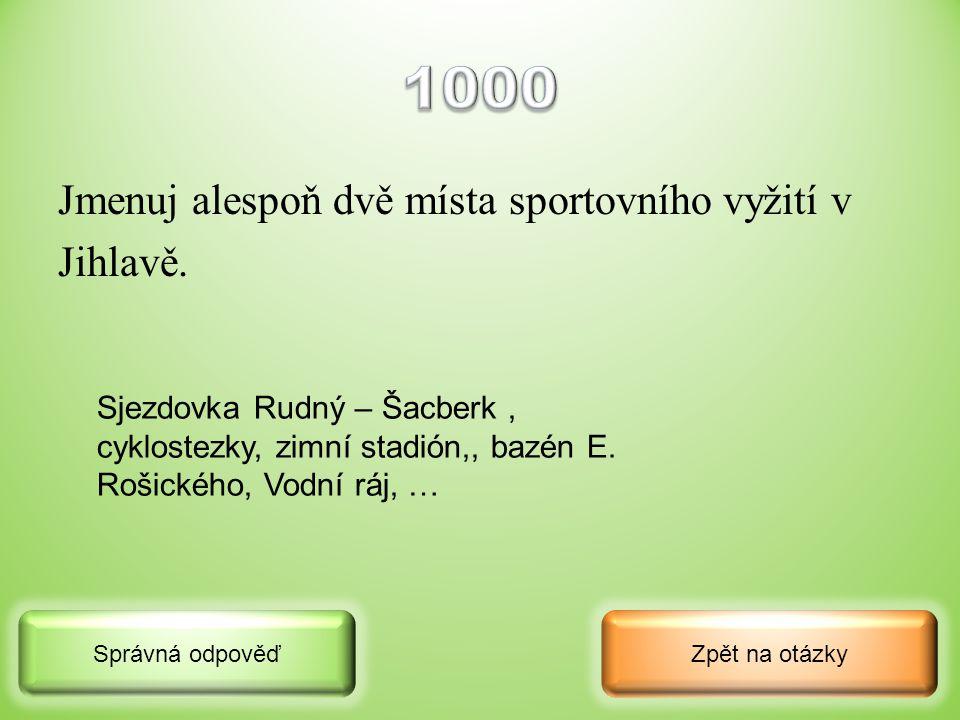 Z jakého slova vznikl název města Jihlava, z jakého je to jazyka a co toto slovo česky znamená? Zpět na otázkySprávná odpověď z německého slova Igel –