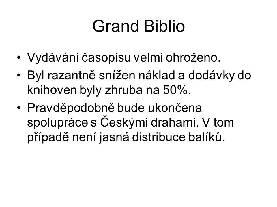 Grand Biblio Vydávání časopisu velmi ohroženo.