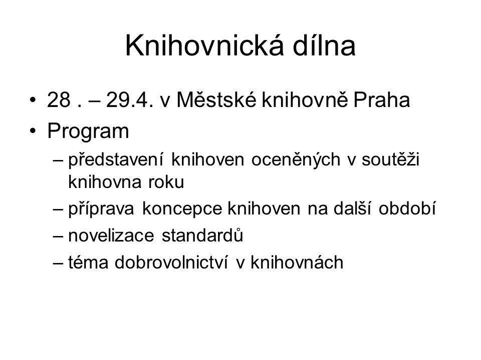Knihovnická dílna 28. – 29.4.