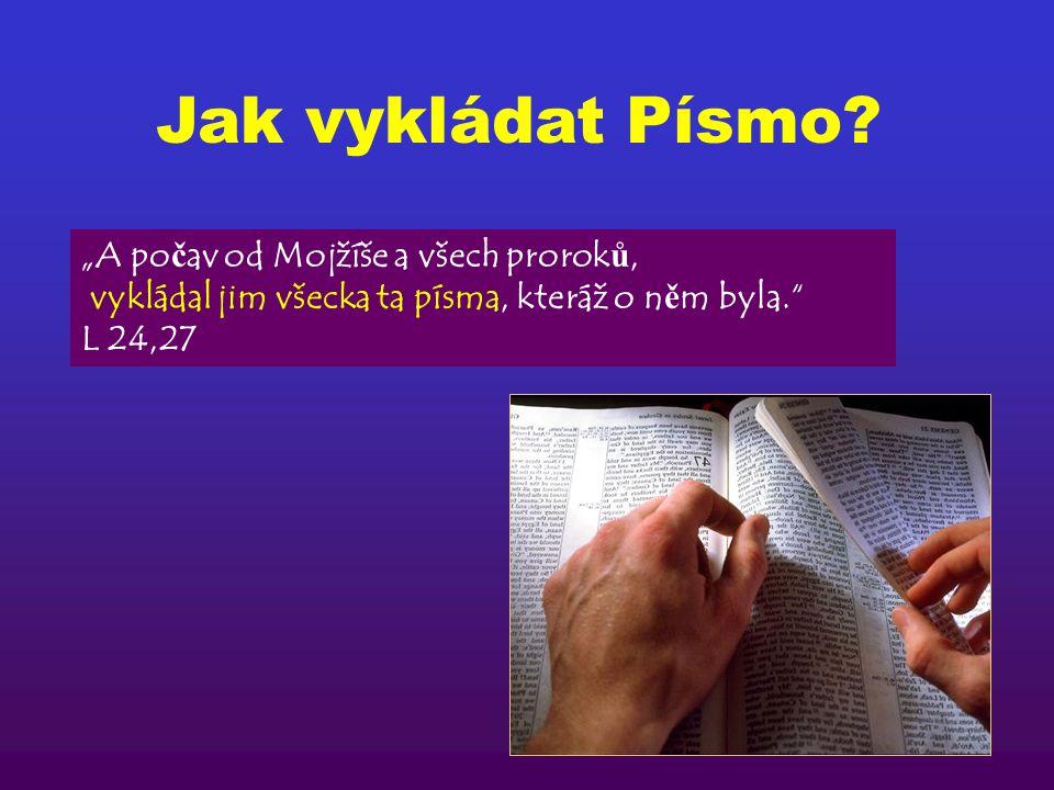 Jak vykládat Písmo? záležitostí vlastního výkladuToto p ř edevším v ě zte, že žádné proroctví Písma není záležitostí vlastního výkladu. Nebo ť proroct