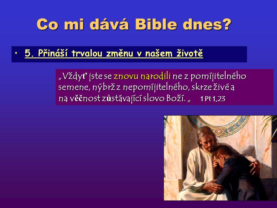 """Co mi dává Bible dnes? 4. Má moc proniknout do našeho nitra4. Má moc proniknout do našeho nitra """"Nebo ť slovo Boží je živé a č inné, je ost ř ejší než"""