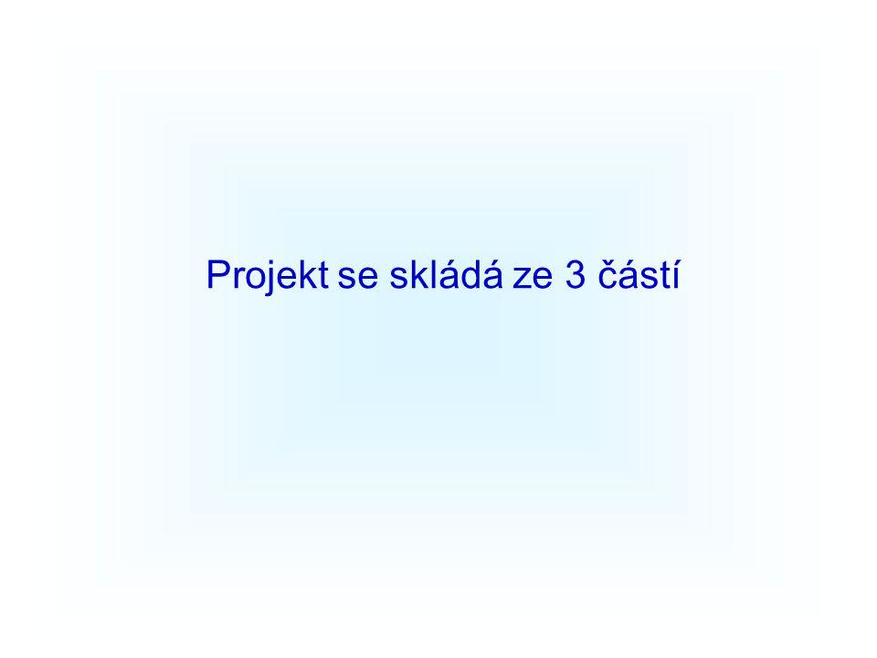 Projekt se skládá ze 3 částí