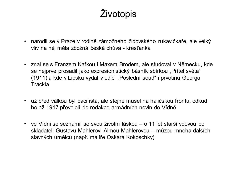 Životopis narodil se v Praze v rodině zámožného židovského rukavičkáře, ale velký vliv na něj měla zbožná česká chůva - křesťanka znal se s Franzem Ka