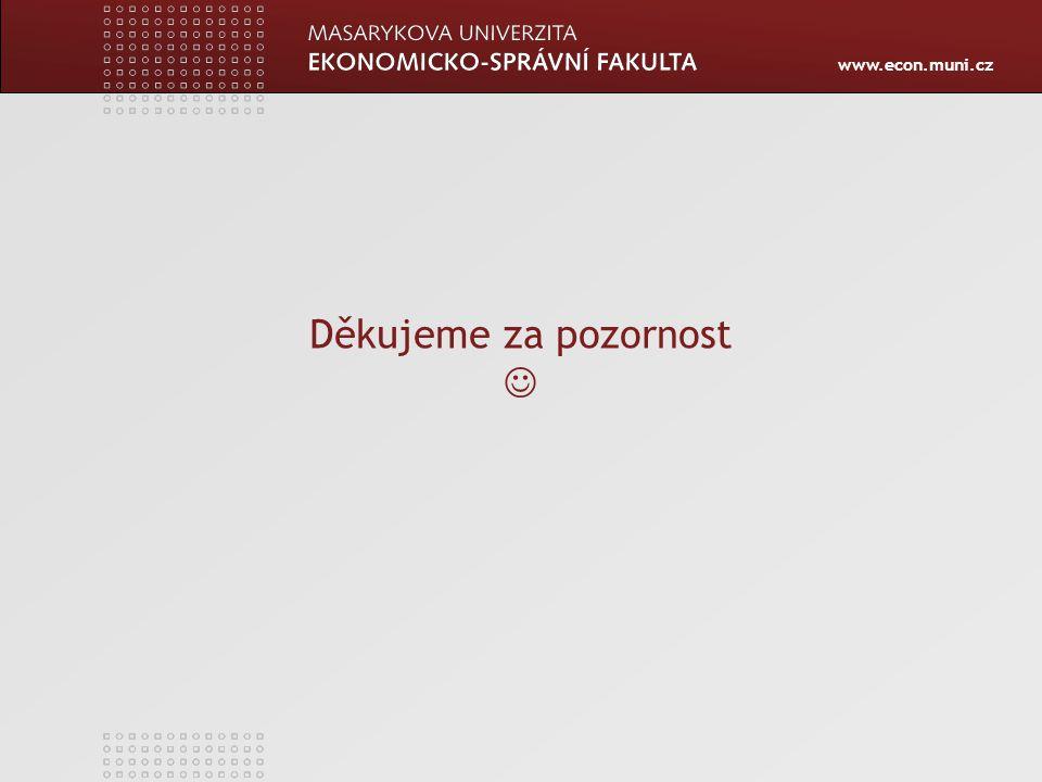 www.econ.muni.cz Děkujeme za pozornost