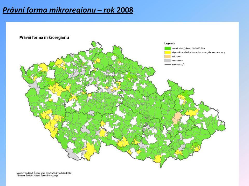 Právní forma mikroregionu – rok 2008