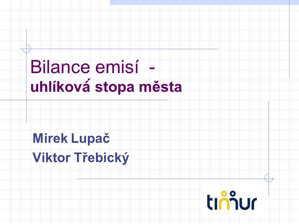 Bilance emisí - uhlíková́ stopa města Mirek Lupač Viktor Třebický