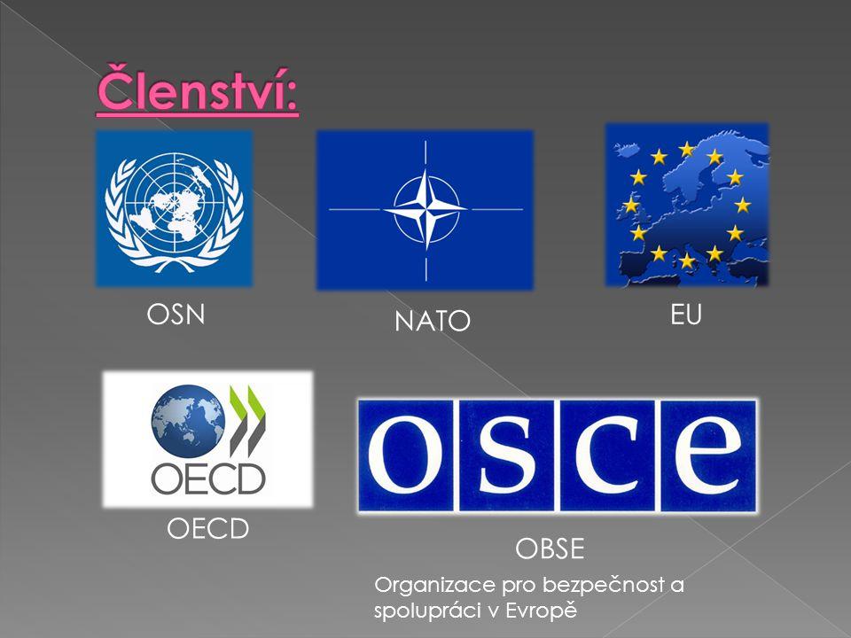 EU NATO OSN OBSE OECD Organizace pro bezpečnost a spolupráci v Evropě