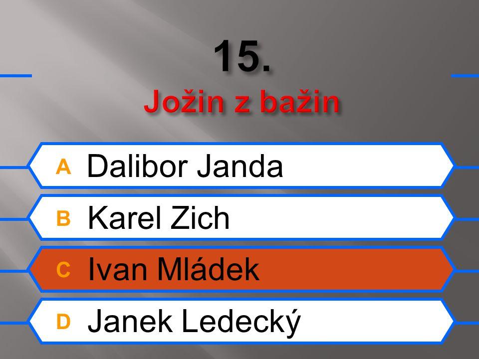 A Dalibor Janda B Karel Zich C Ivan Mládek D Janek Ledecký