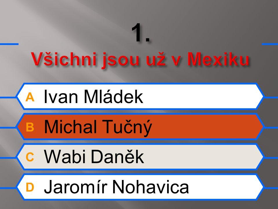 A Ivan Mládek B Michal Tučný C Wabi Daněk D Jaromír Nohavica