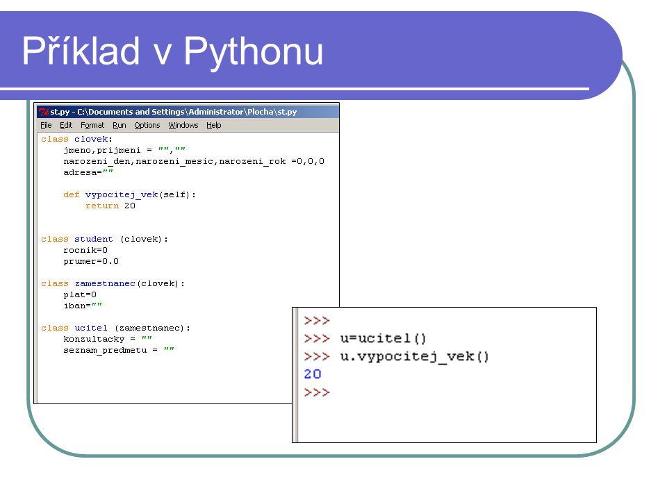 Příklad v Pythonu