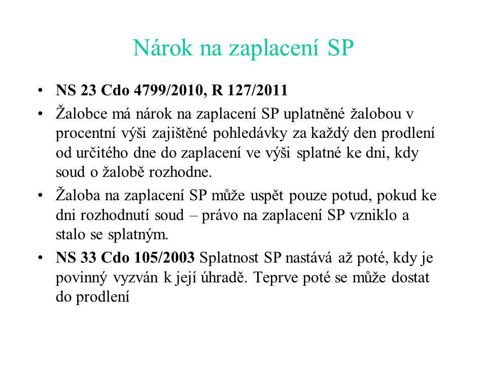 Vázání SP na odstoupení od smlouvy Podle důvodové zprávy a čl.