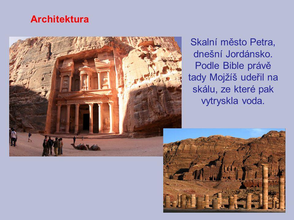 Architektura Skalní město Petra, dnešní Jordánsko.