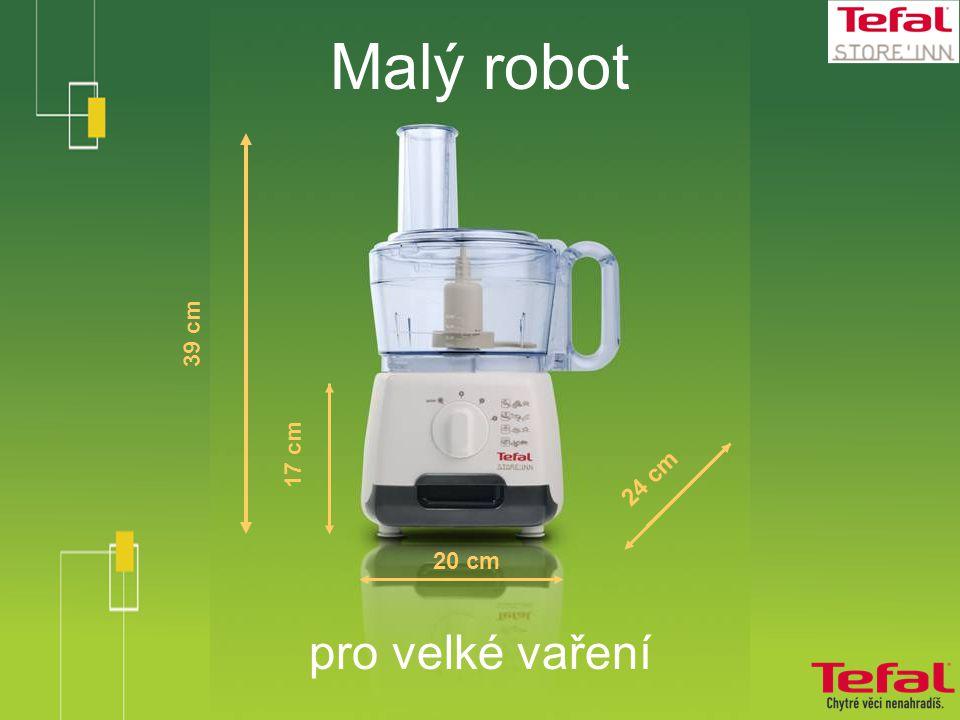 Malý robot pro velké vaření 39 cm 20 cm 24 cm 17 cm