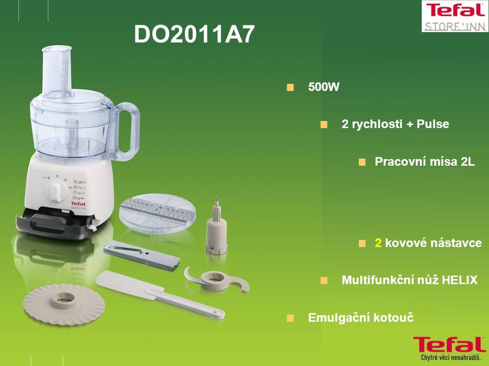 DO2011A7  500W  2 rychlosti + Pulse  Pracovní mísa 2L  2 kovové nástavce  Multifunkční nůž HELIX  Emulgační kotouč