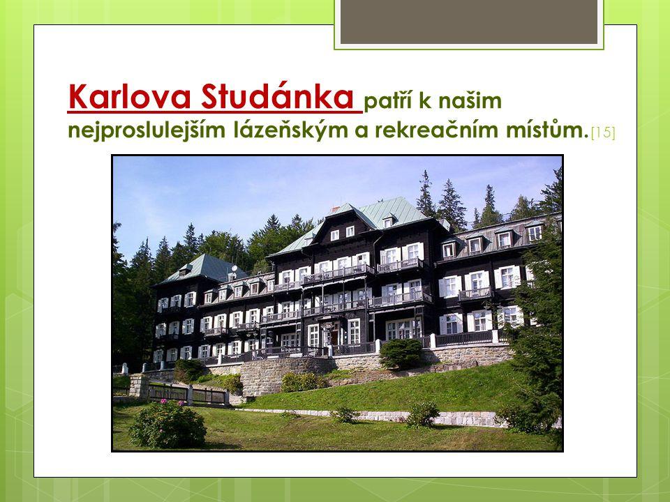 Karlova Studánka patří k našim nejproslulejším lázeňským a rekreačním místům. [15]