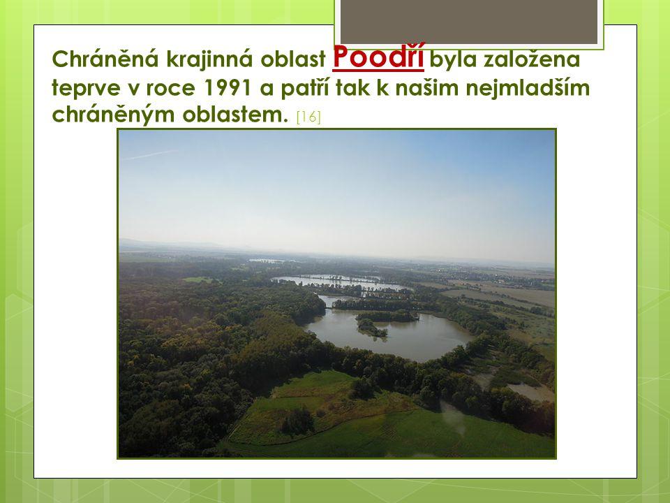 Chráněná krajinná oblast Poodří byla založena teprve v roce 1991 a patří tak k našim nejmladším chráněným oblastem. [16]
