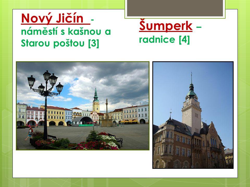 Nový Jičín - náměstí s kašnou a Starou poštou [3] Šumperk – radnice [4]