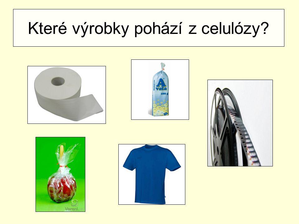 Které výrobky pohází z celulózy?