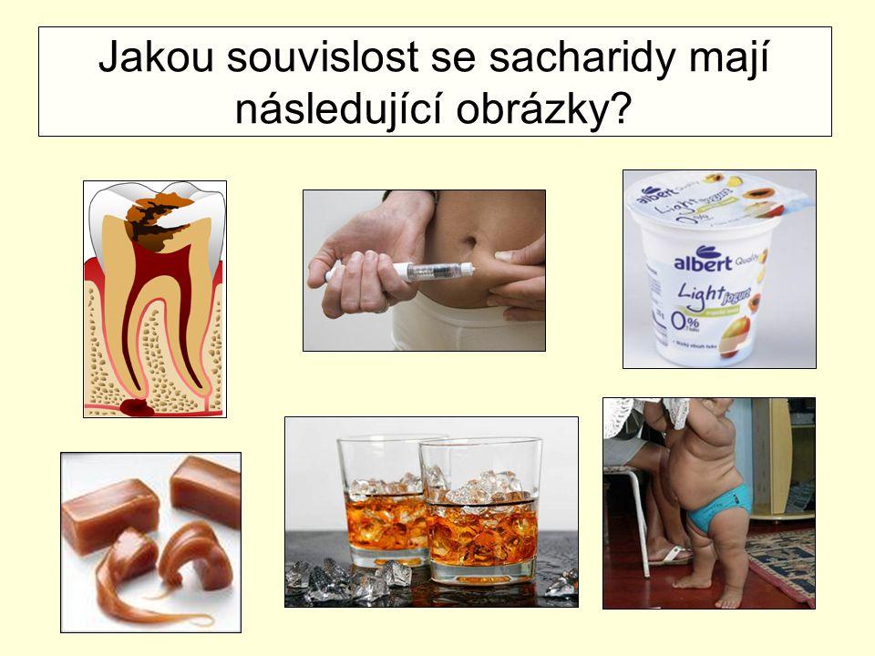 Jakou souvislost se sacharidy mají následující obrázky?
