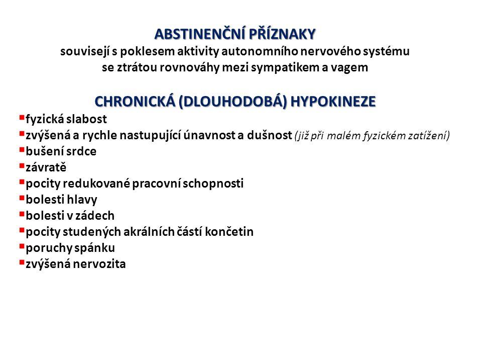 METABOLICKÁ DESADAPTACE ↓ aktivity glykogen-syntázy ↓ zásobní glykogen ve svalech ↓ aktivity citrát-syntázy ↓ aktivity všech typů dehydrogenáz (zejména v pomalých svalových vláknech) ↓ oxidativní fosforylace