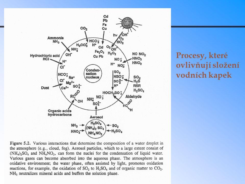 Depoziční cesty hlavních kyselinotvorných plynů a amoniaku
