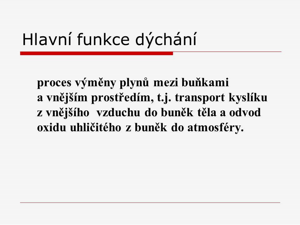 Fickův zákon Difuze O 2 a CO 2 přes alveolokapilární (AK) membránu se řídí Fickovým zákonem.