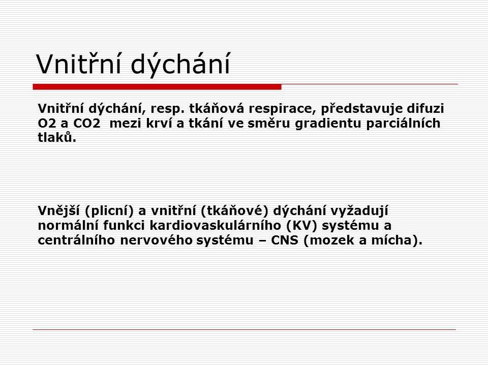 Vnitřní dýchání Vnitřní dýchání, resp.