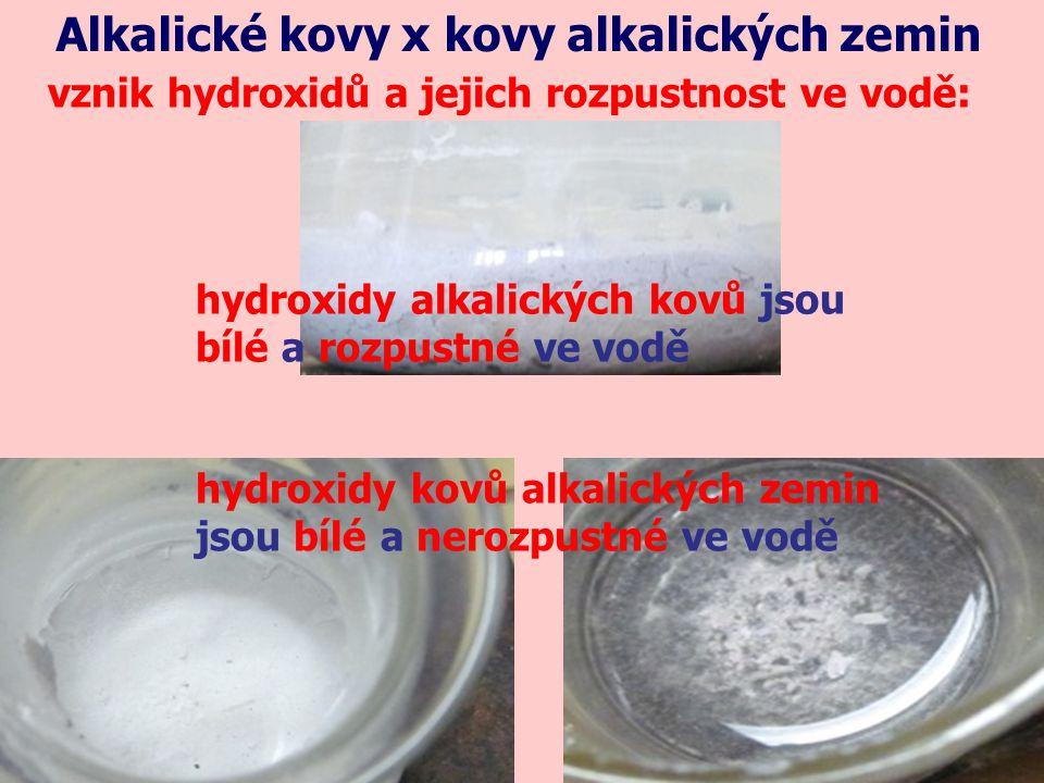 Alkalické kovy x kovy alkalických zemin Jak probíhá výroba.