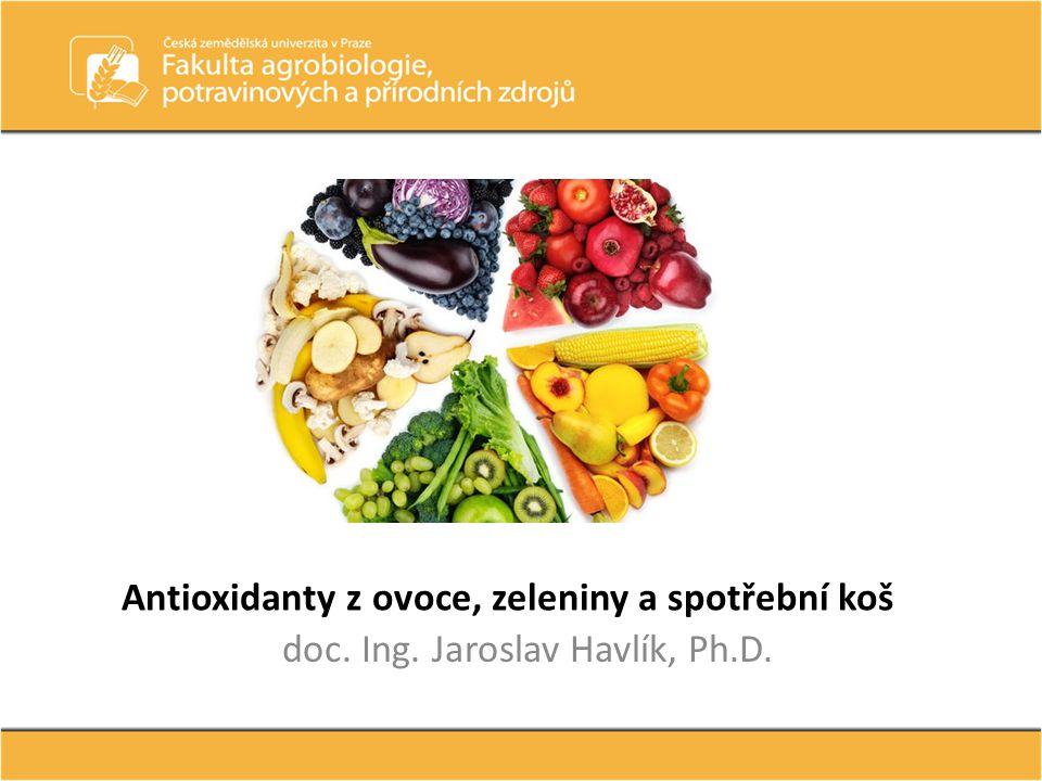 Antioxidanty z ovoce, zeleniny a spotřební koš doc. Ing. Jaroslav Havlík, Ph.D.