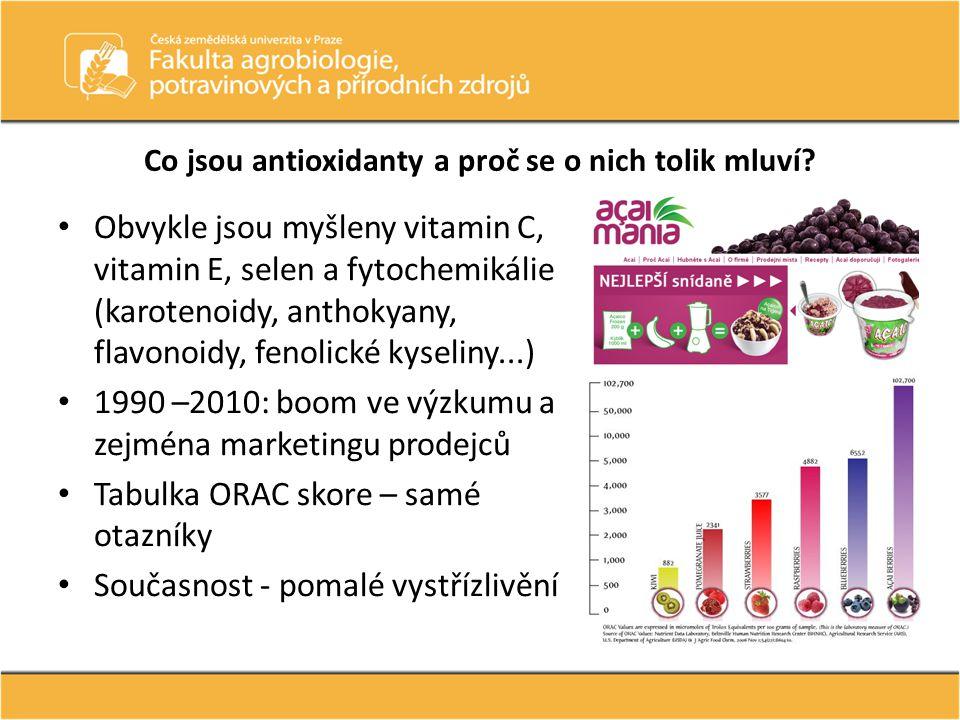 Co jsou antioxidanty a proč se o nich tolik mluví? Obvykle jsou myšleny vitamin C, vitamin E, selen a fytochemikálie (karotenoidy, anthokyany, flavono