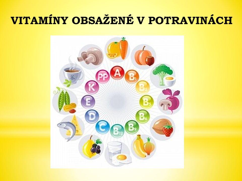 NázevZdrojeProjevy při nedostatku vitamínu B1 Kvasnice, vnitřnosti, obilí, luštěniny, houbyÚnava, záněty nervů, choroba beri-beri B2 Kvasnice, mléko, obilí, vajíčka, maso, houbyPoškození sliznic hltanu, hrtanu, bolavé ústní koutky B6 Kvasnice, obilí, maso, mléko, luštěninyPomalé hojení zánětů PP (niacin) Vnitřnosti, maso, kvasniceZáněty kůže, poškození mozku Kyselina listová Zelené části rostlinporuchy krvetvorby - chudokrevnost B12 Vnitřnosti, maso, částečně činností bakterií ve střevech Poruchy krvetvorby, záněty sliznic C Citrusové plody, šípky, černý rybíz, další ovoce a zelenina Únava, snížená odolnost vůči infekcím, krvácení dásní, choroba kurděje