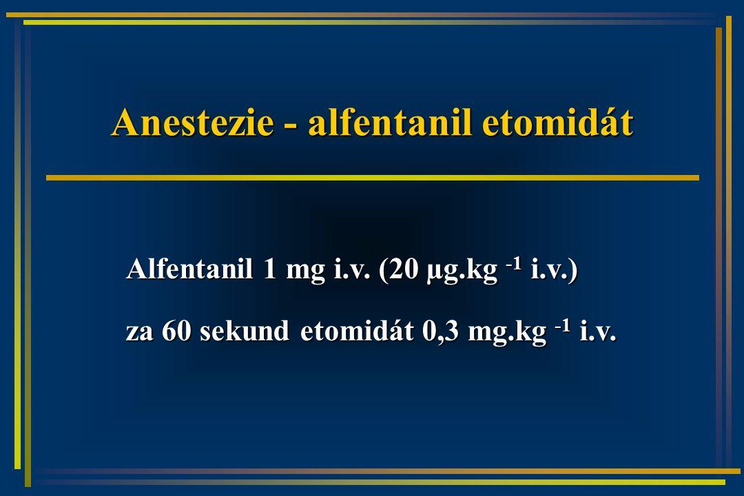 Anestezie - alfentanil etomidát Alfentanil 1 mg i.v.