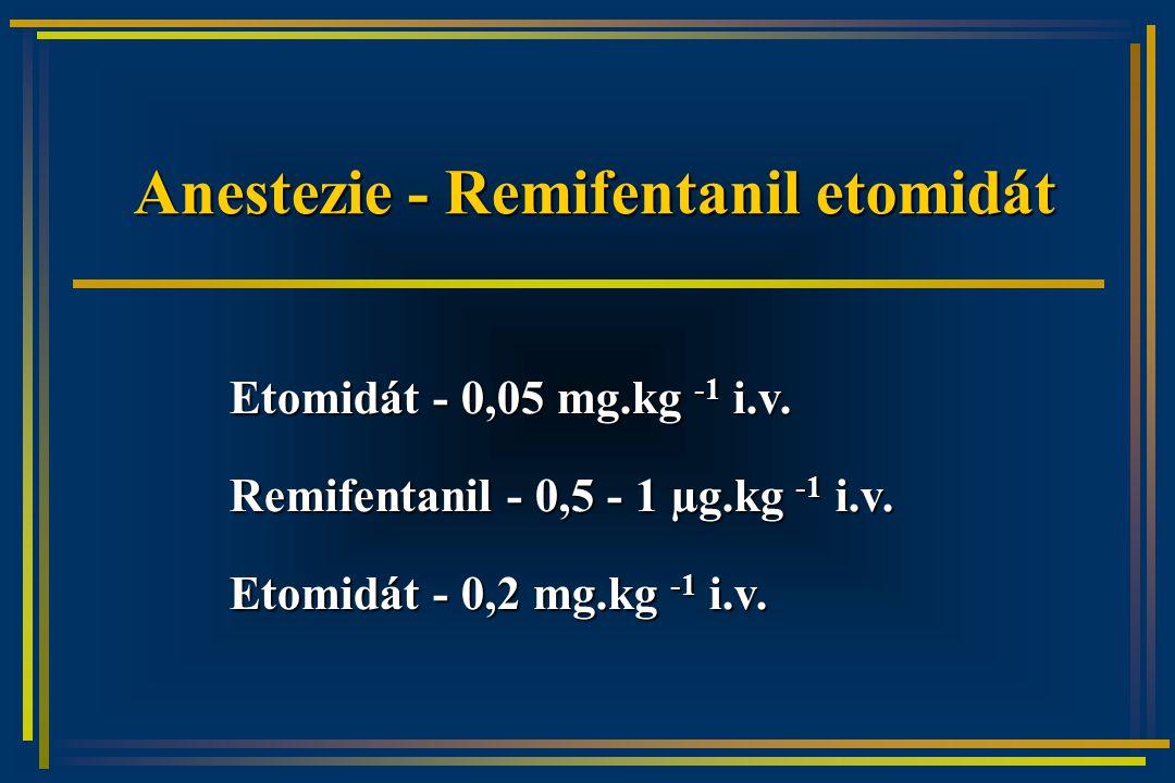 Anestezie - Remifentanil etomidát Etomidát - 0,05 mg.kg -1 i.v.