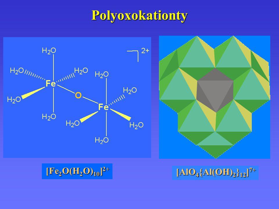 Polyoxokationty [Fe 2 O(H 2 O) 10 ] 2+ [AlO 4 {Al(OH) 2 } 12 ] 7+