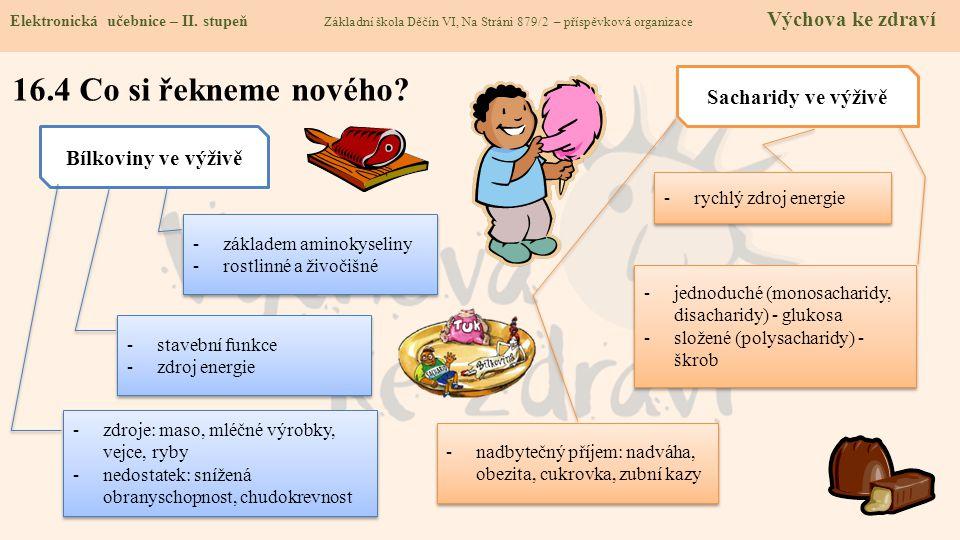 16.5 Procvičení a příklady Elektronická učebnice - II.