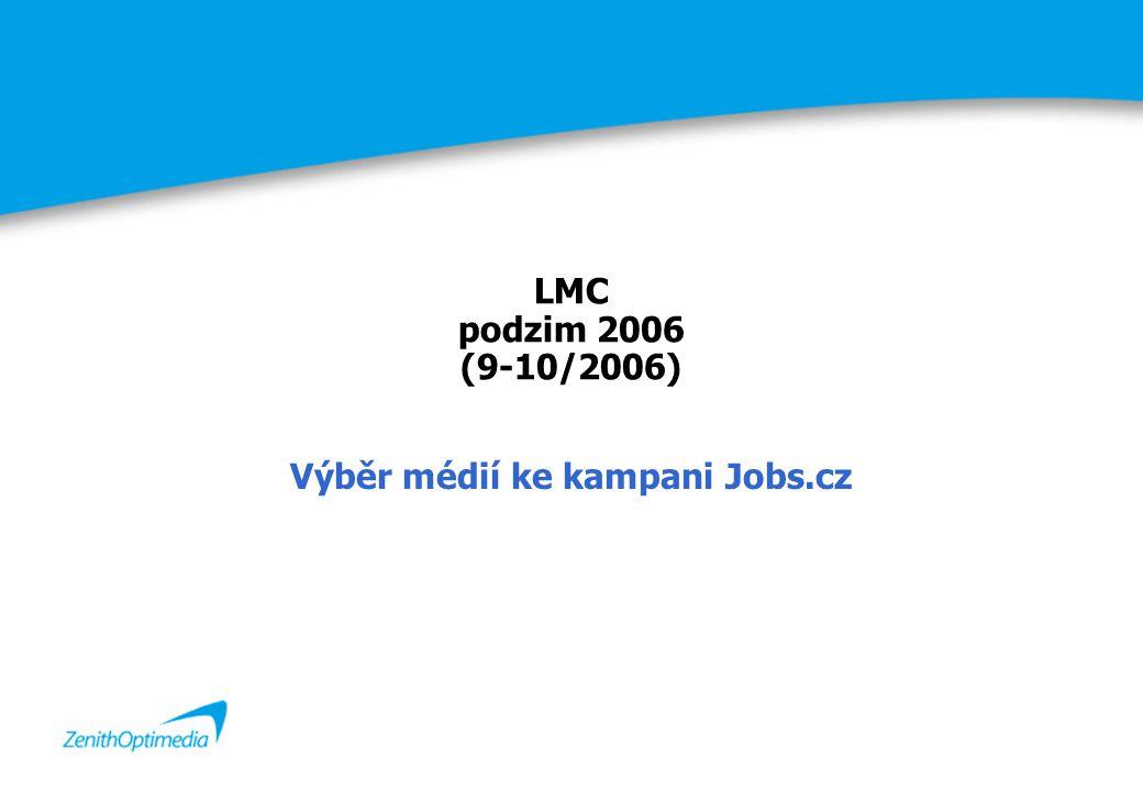 LMC podzim 2006 (9-10/2006) Výběr médií ke kampani Jobs.cz
