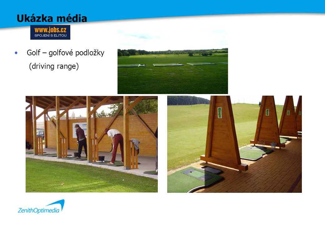 Ukázka média Golf – golfové podložky (driving range)