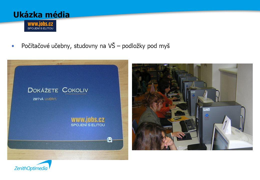 Ukázka média Počítačové učebny, studovny na VŠ – podložky pod myš