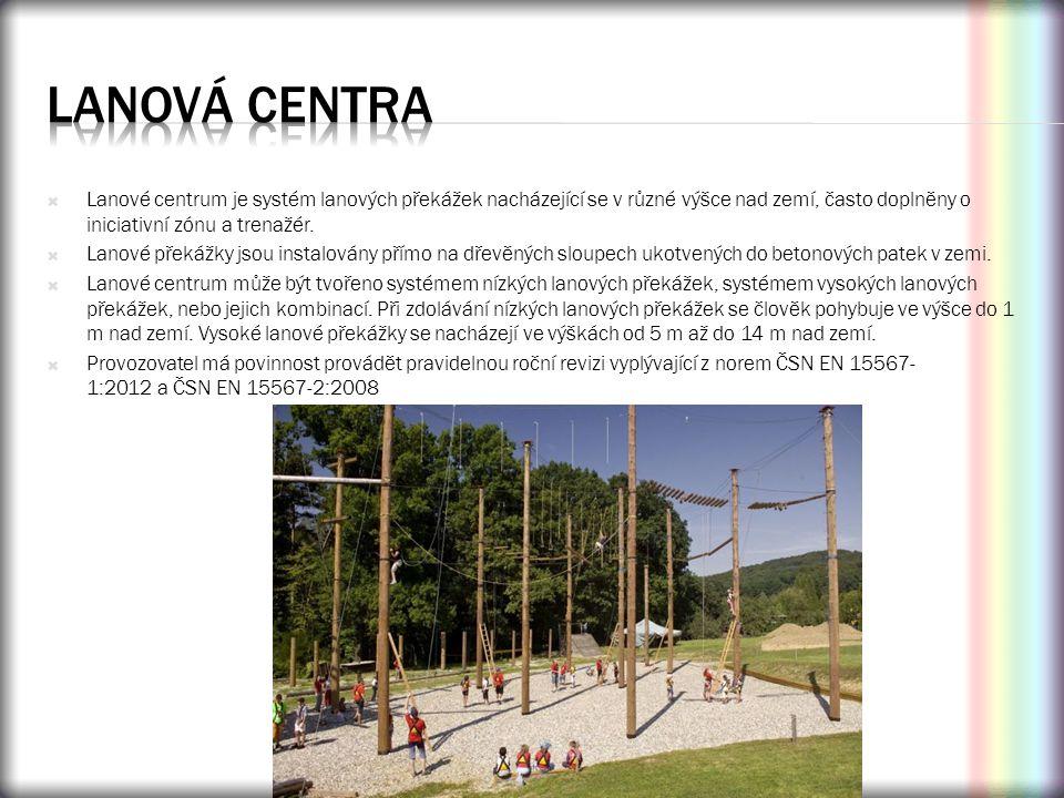  Lanové centrum je systém lanových překážek nacházející se v různé výšce nad zemí, často doplněny o iniciativní zónu a trenažér.